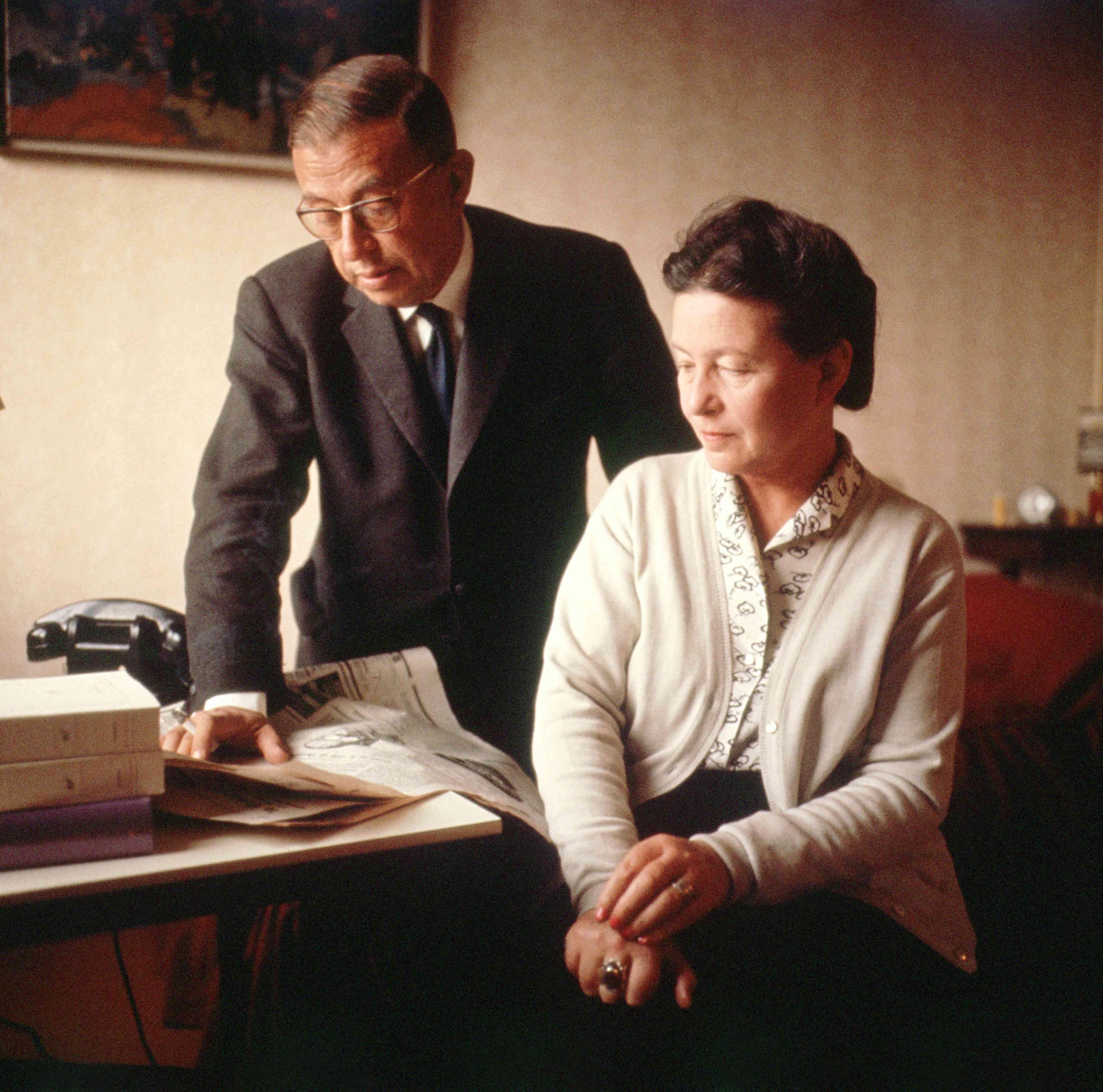 Simone de Beauvoir and Jean Paul Sarte