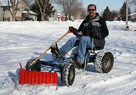 Man using the Snowplow Bike