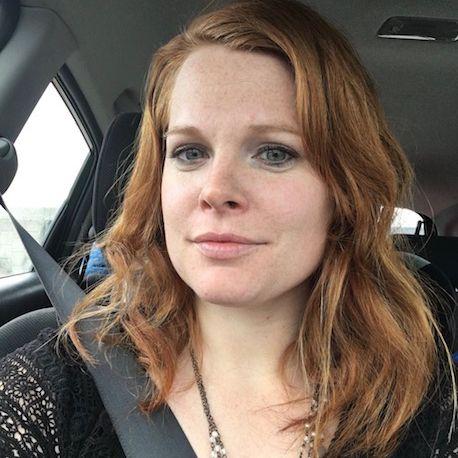 Woman's selfie in the car