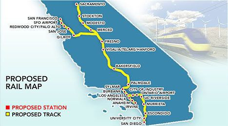 california high-speed rail map image