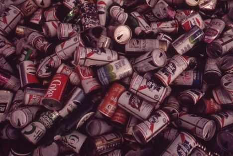 beer cans collected