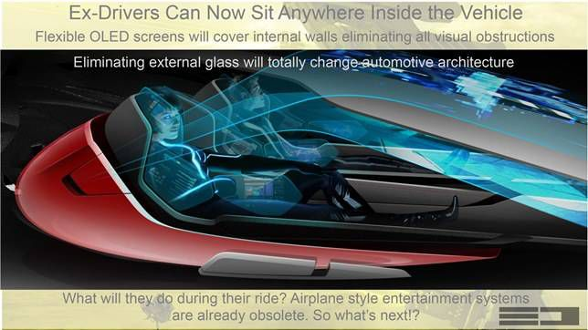 Michael Robinson's concept for driverless cars