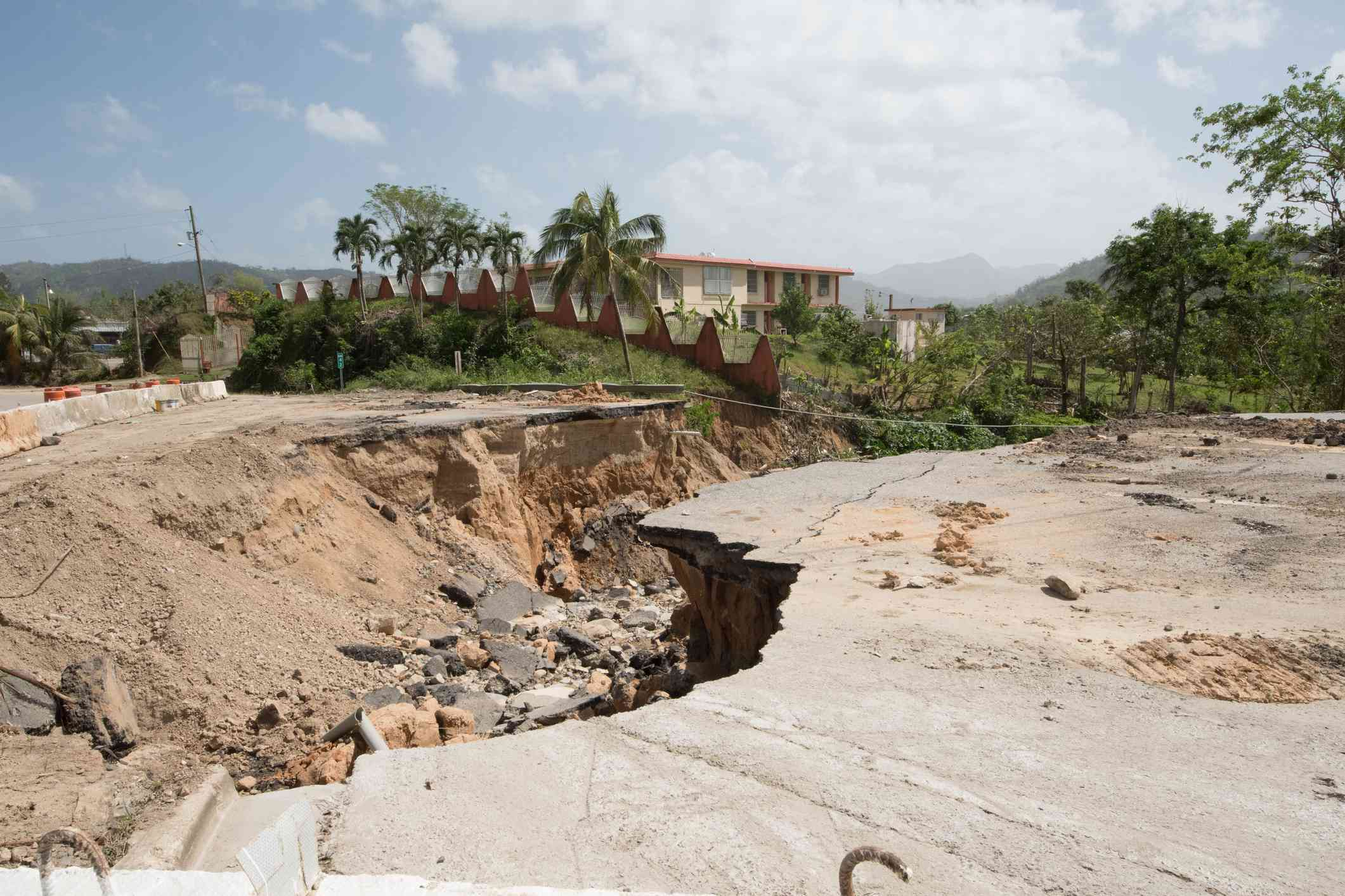 Hurricane Maria 2017 damage in Puerto Rico