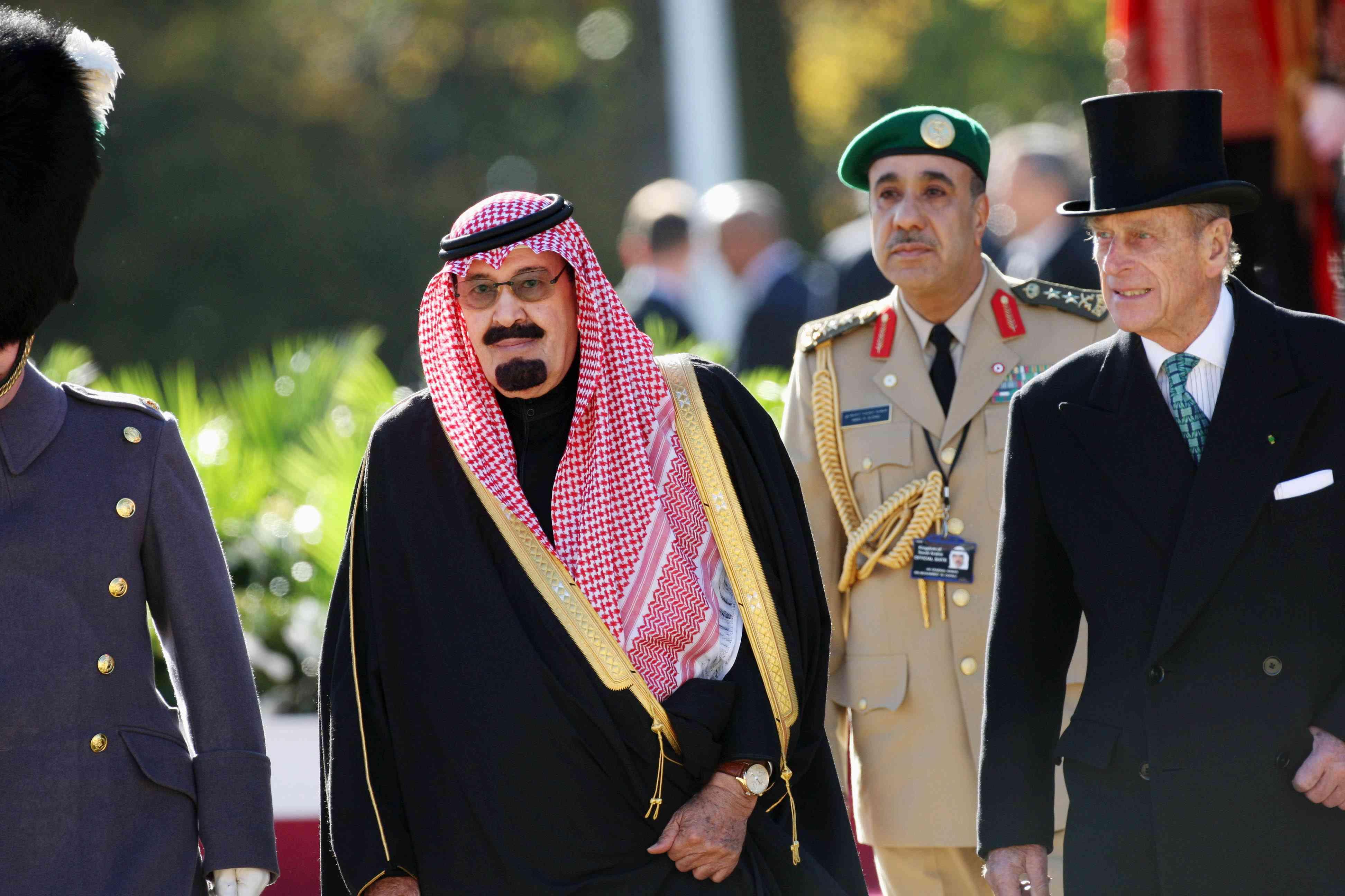 King Abdullah Bin Abdul Aziz Al Saud of Saudi Arabia during a state visit to the UK