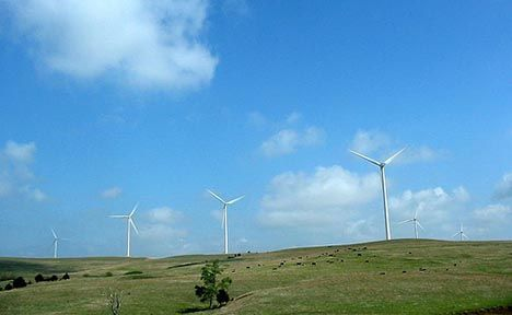 wind turbines kansas photo