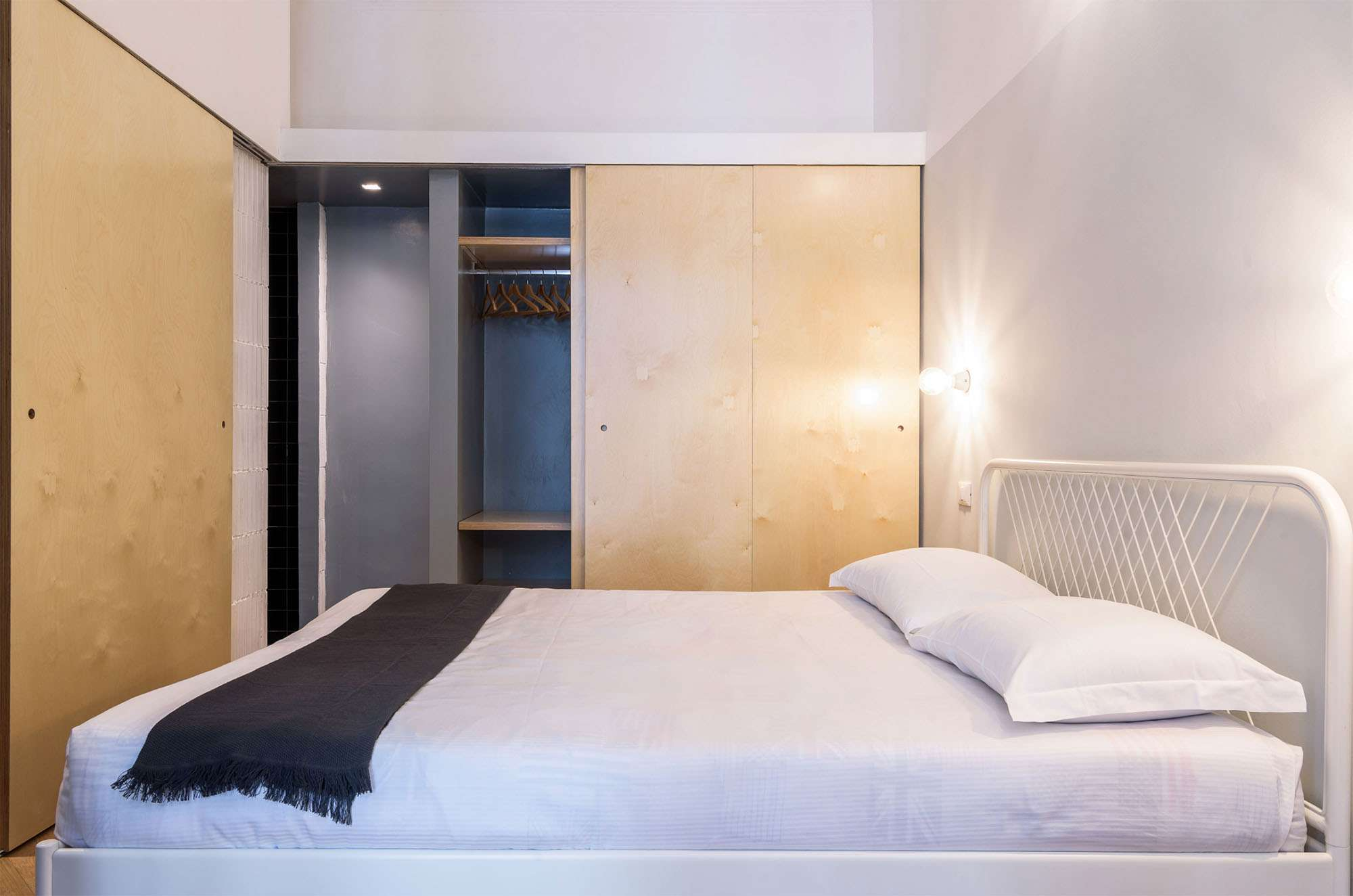 House In Constant Transition small apartment renovation ATOMAA bedroom closet