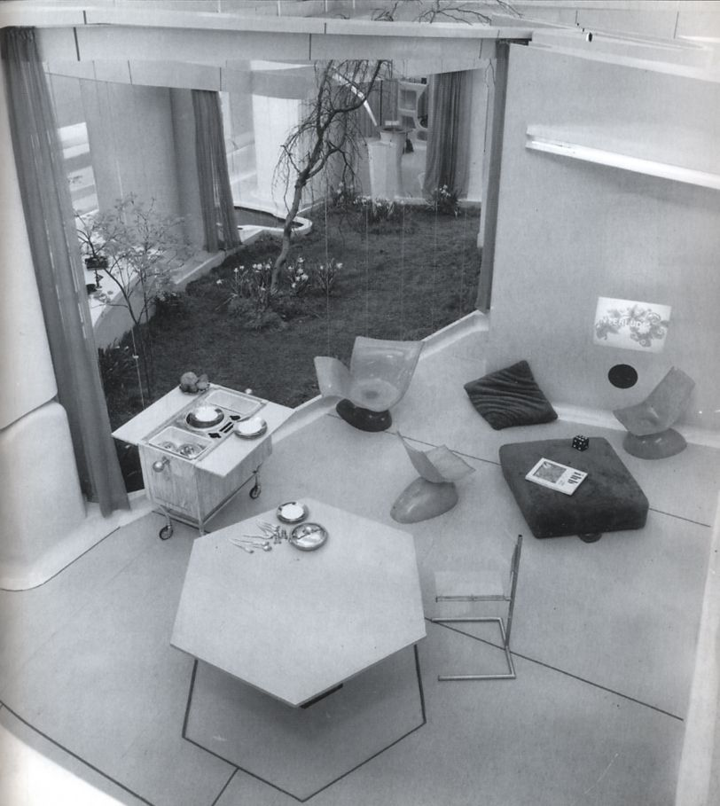 Overhead view of an indoor dining area