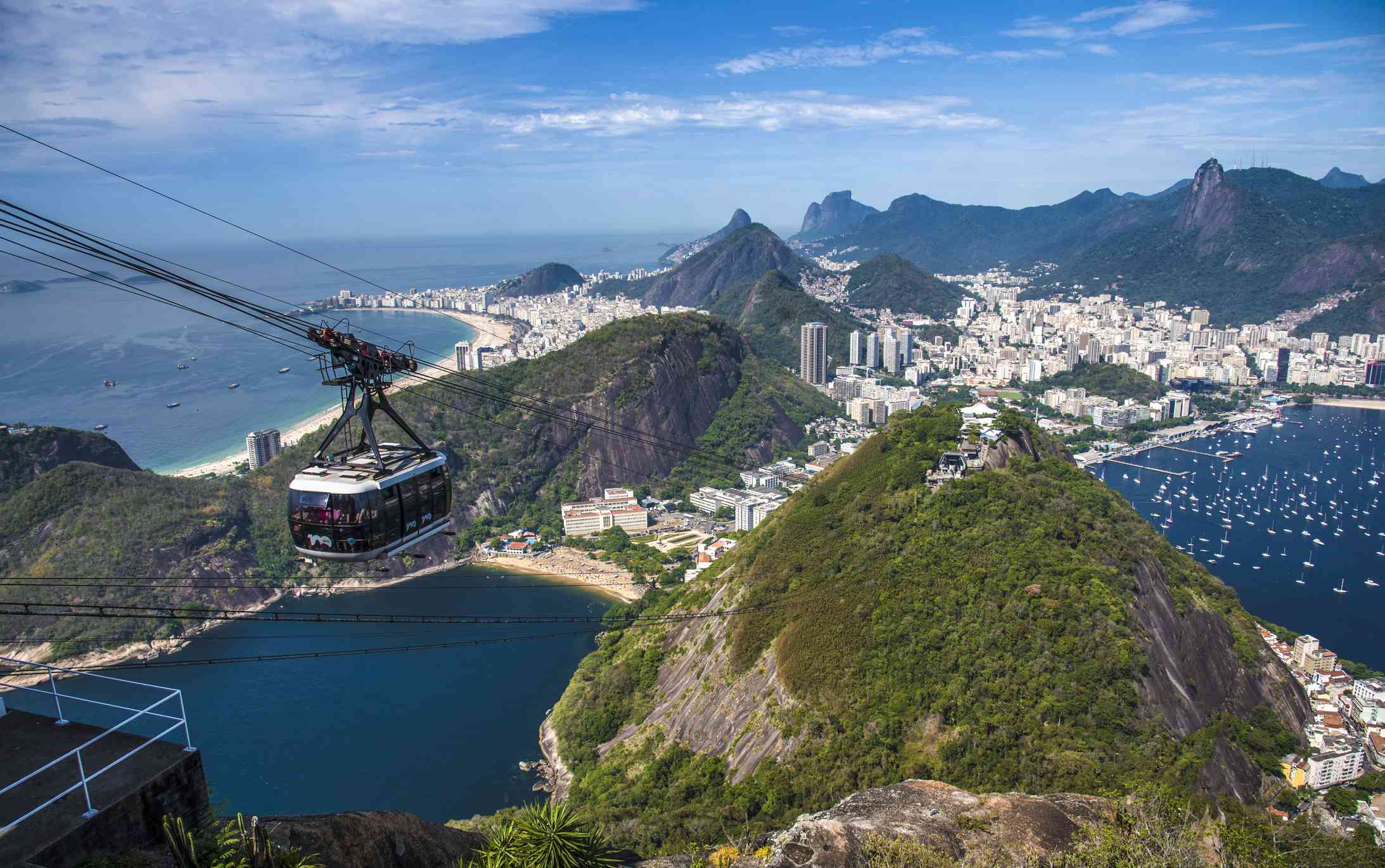 Aerial view of Rio de Janeiro from Sugarloaf Mountain