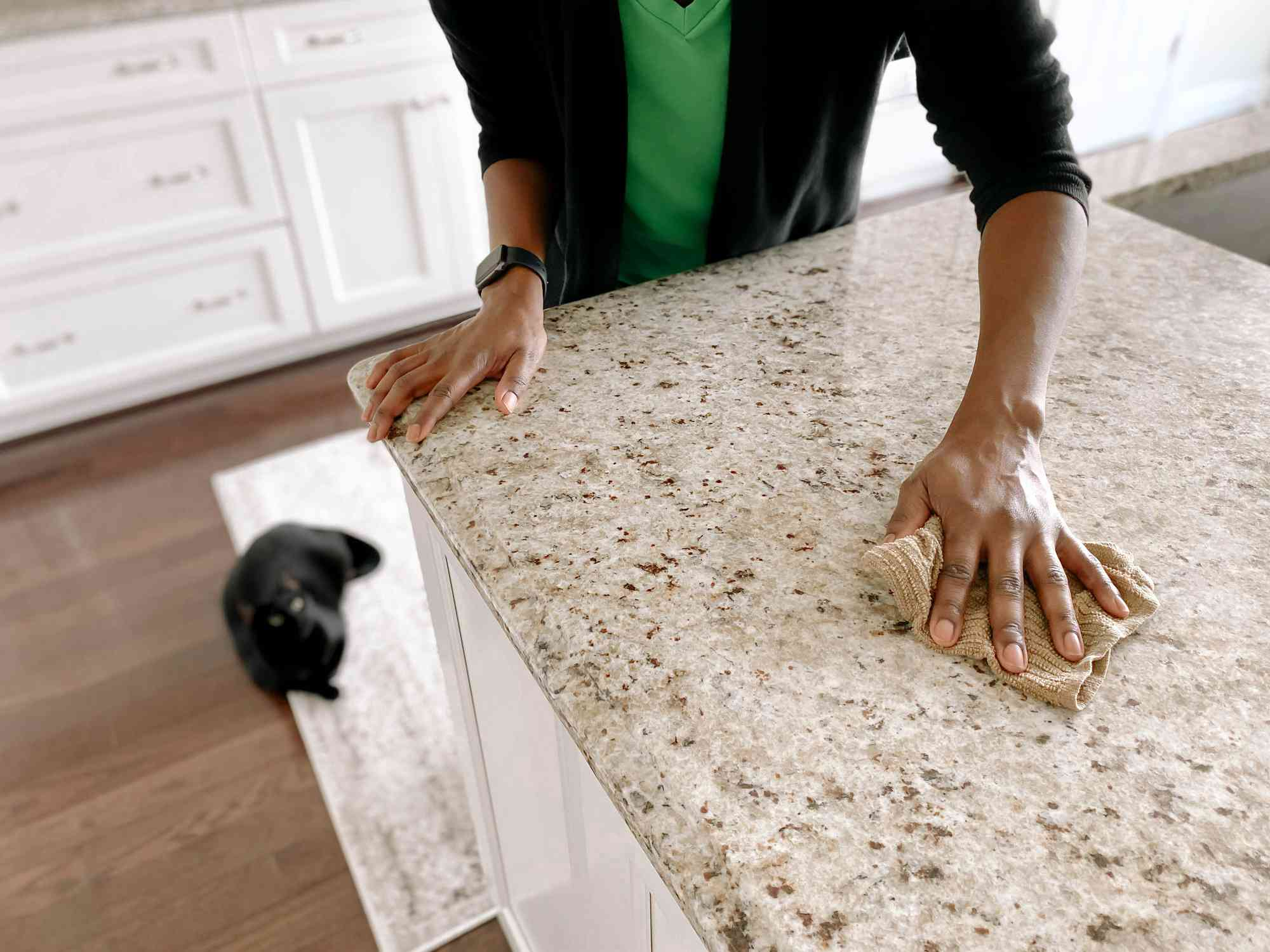 Granite Counter may be sealed with PFAS