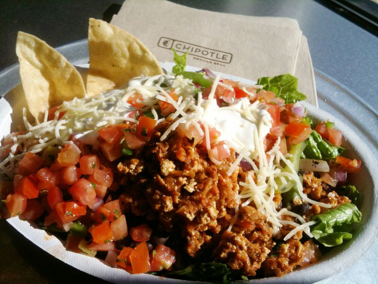 Sofritas bowl from Chipotle restaurant