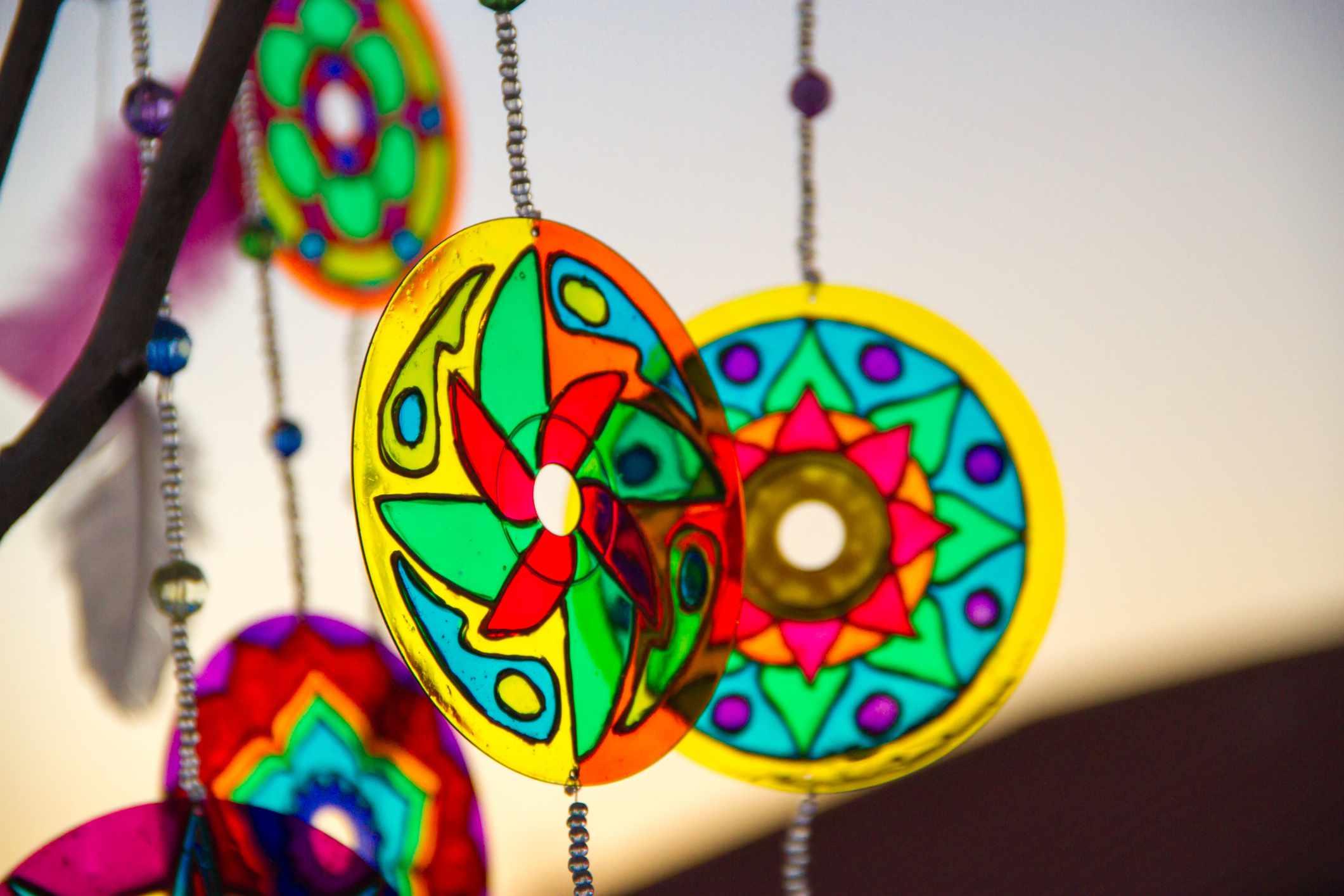 cd dreamcatcher mandala crafts
