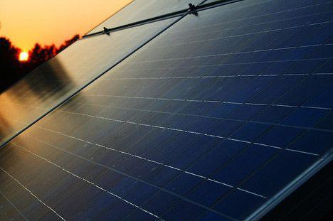Solar Panels Photovoltaic PC Sunset Image