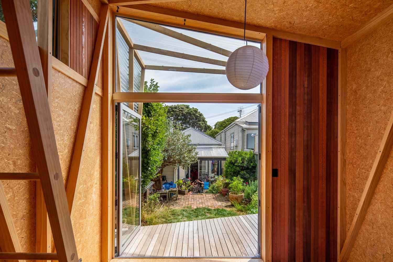Herald Garden Studio Parsonson Architects view to house