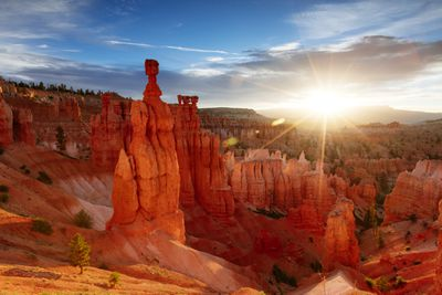 Sunrise over Bryce Canyon National Park in Utah
