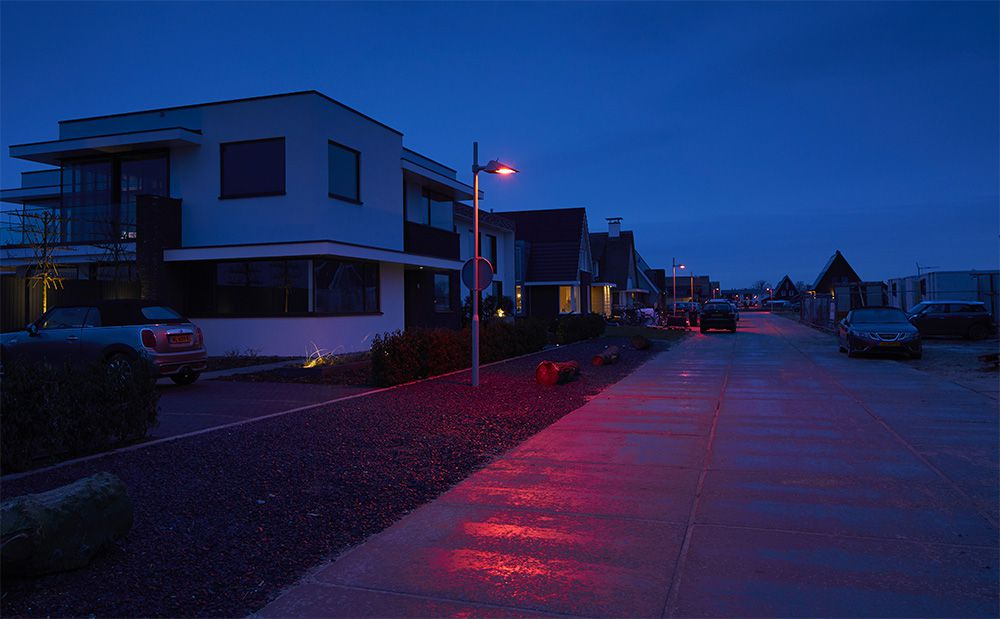 Thought it features mostly red LEDs, the bat-friendly lights also contain a small amount of blue and yellow to help distinguish colors on the ground.
