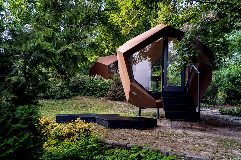 Workstation Cabin prefab home office module by Hello Wood exterior