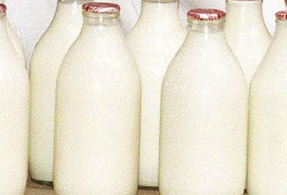 milk bottles photo