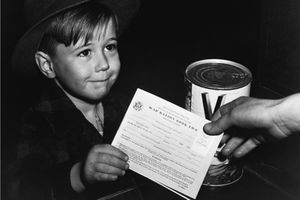 child with ration card