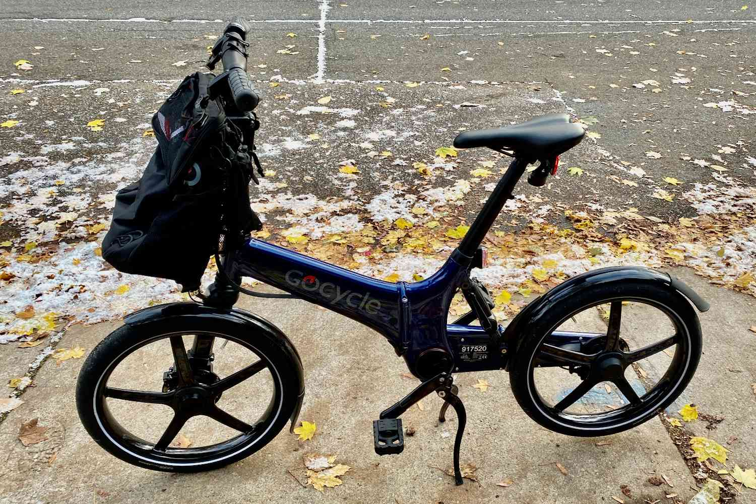 Gocycle ebike in snow