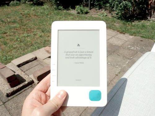 solar e-reader photo