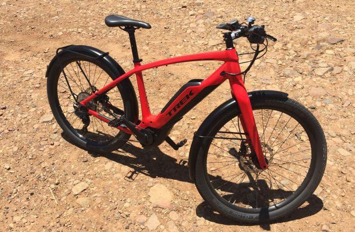 red e-bike