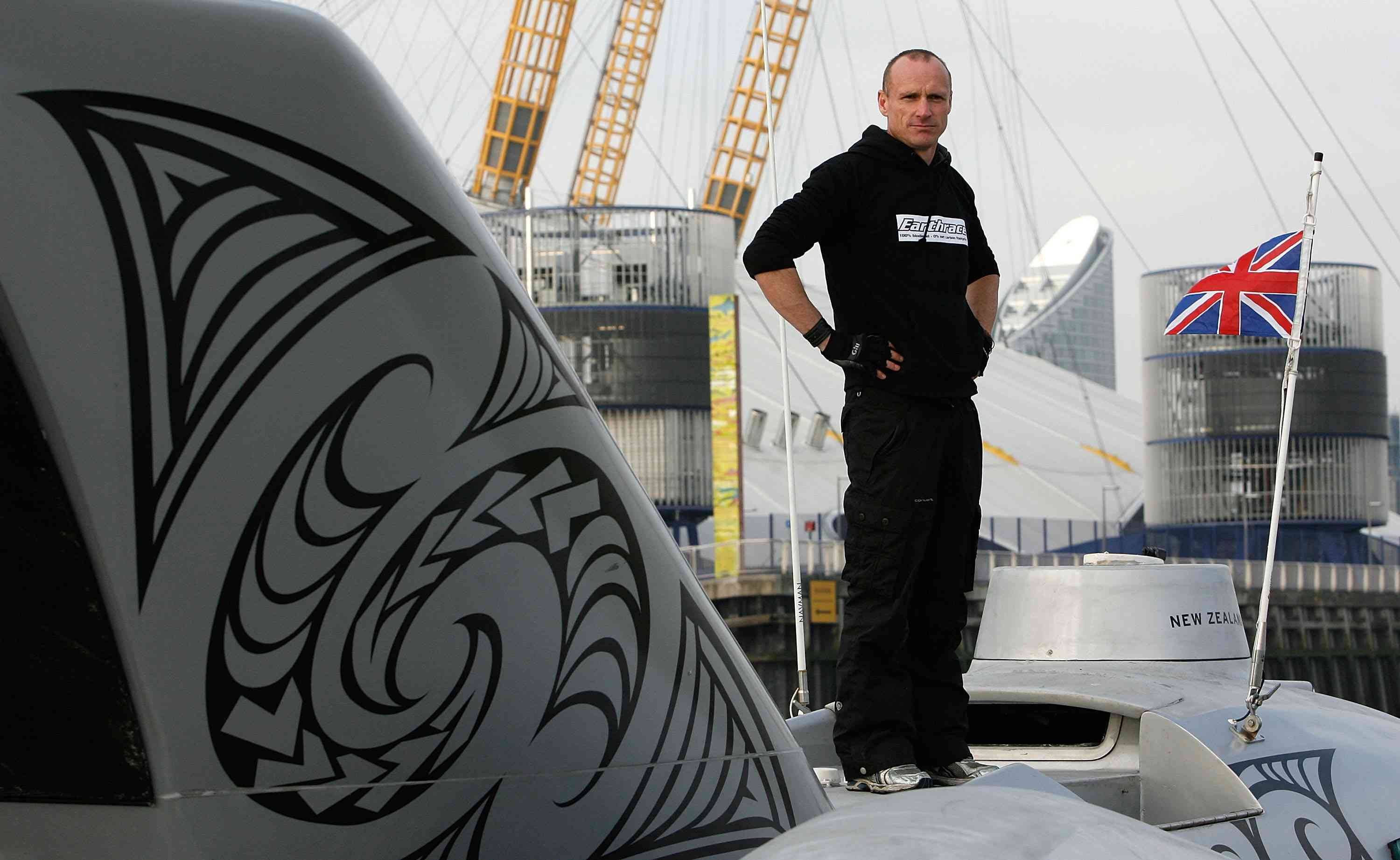 The skipper of Sea Shepherds stands on a boat.