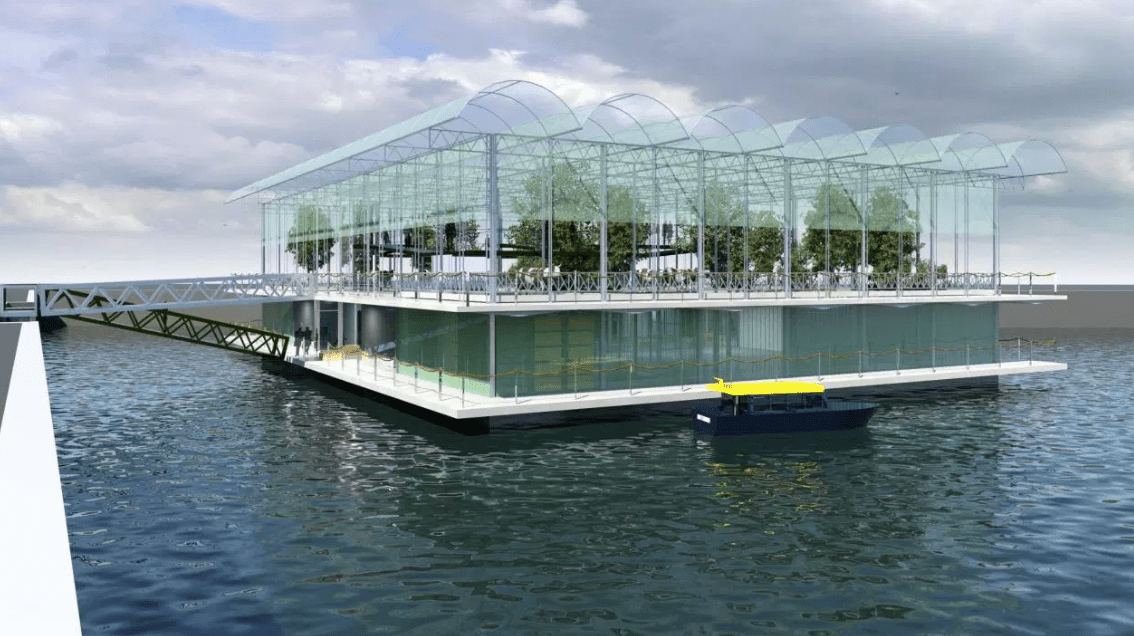 No tipsy cows here: Rotterdam's Floating Farms sits atop a concrete platform that's reportedly very stable.