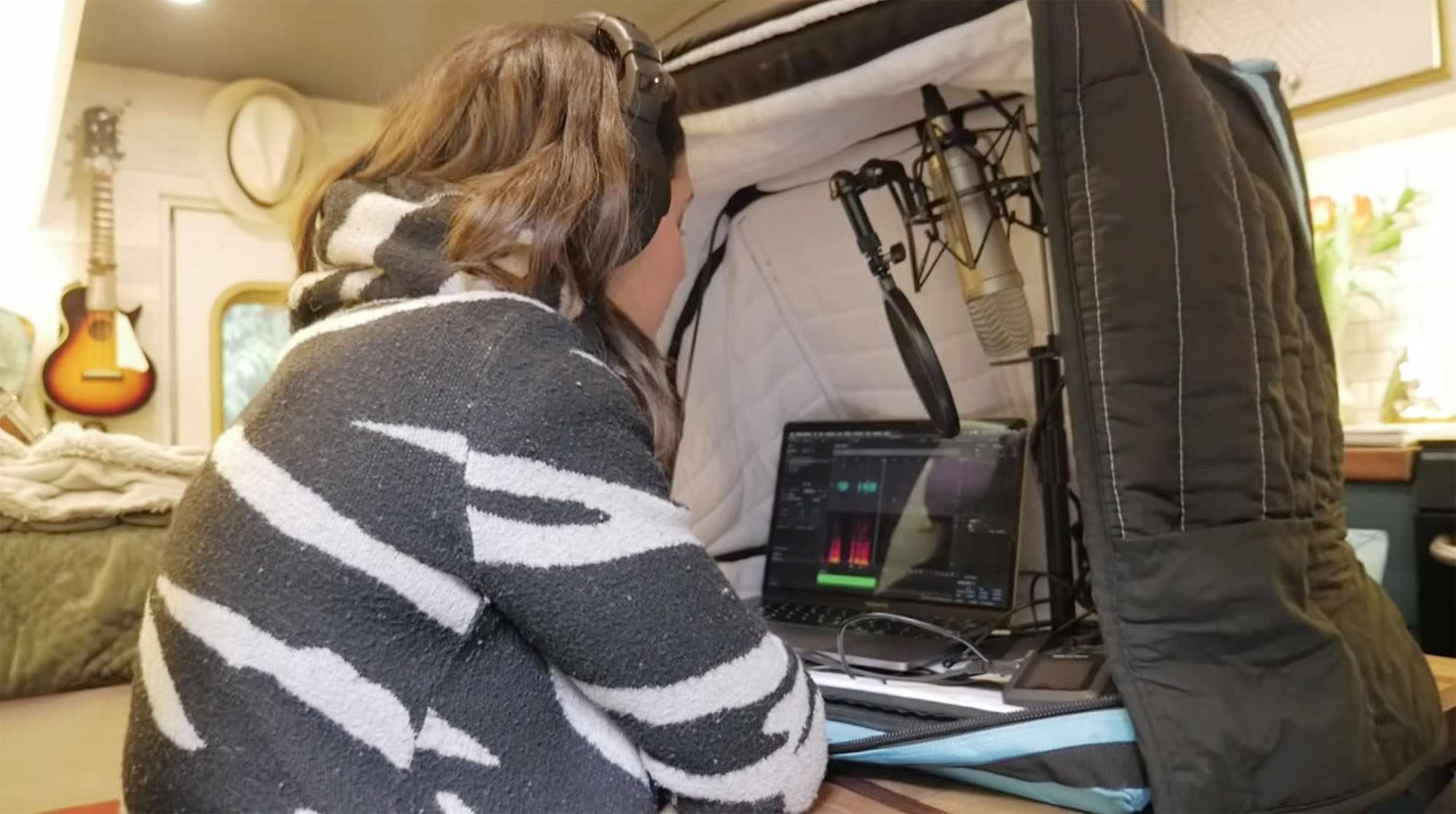 ambulance conversion Amanda Lemay mobile soundbooth