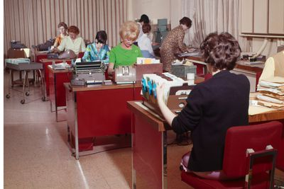 Women at work in office
