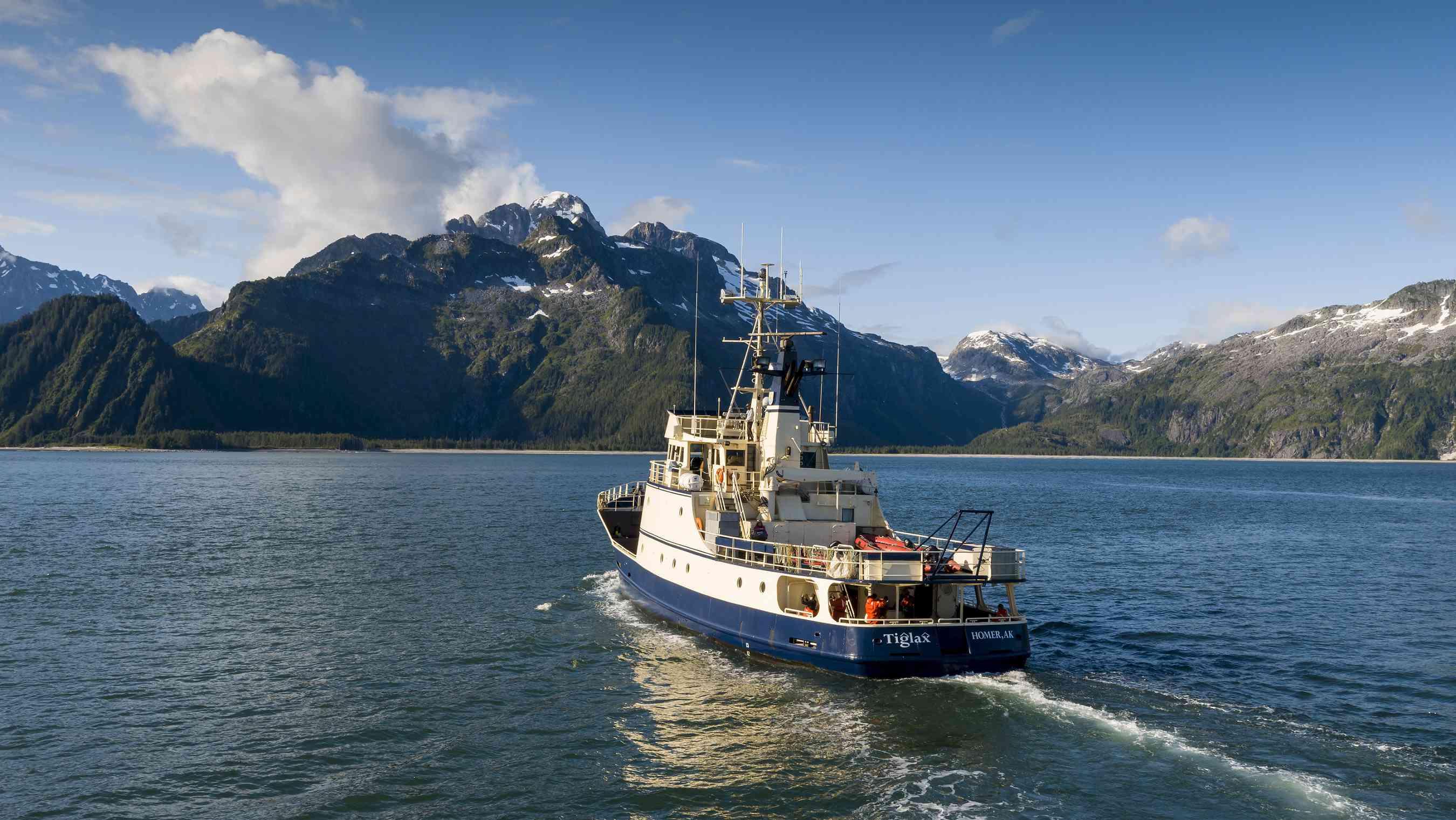 The research vessel Tiglax