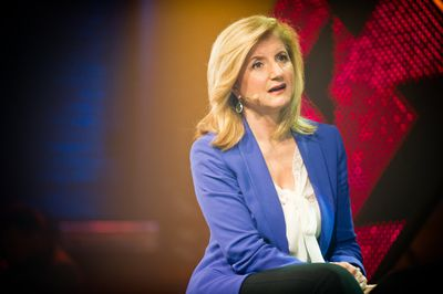 Arianna Huffington, the co-founder and editor of The Huffington Post, speaks at an event.