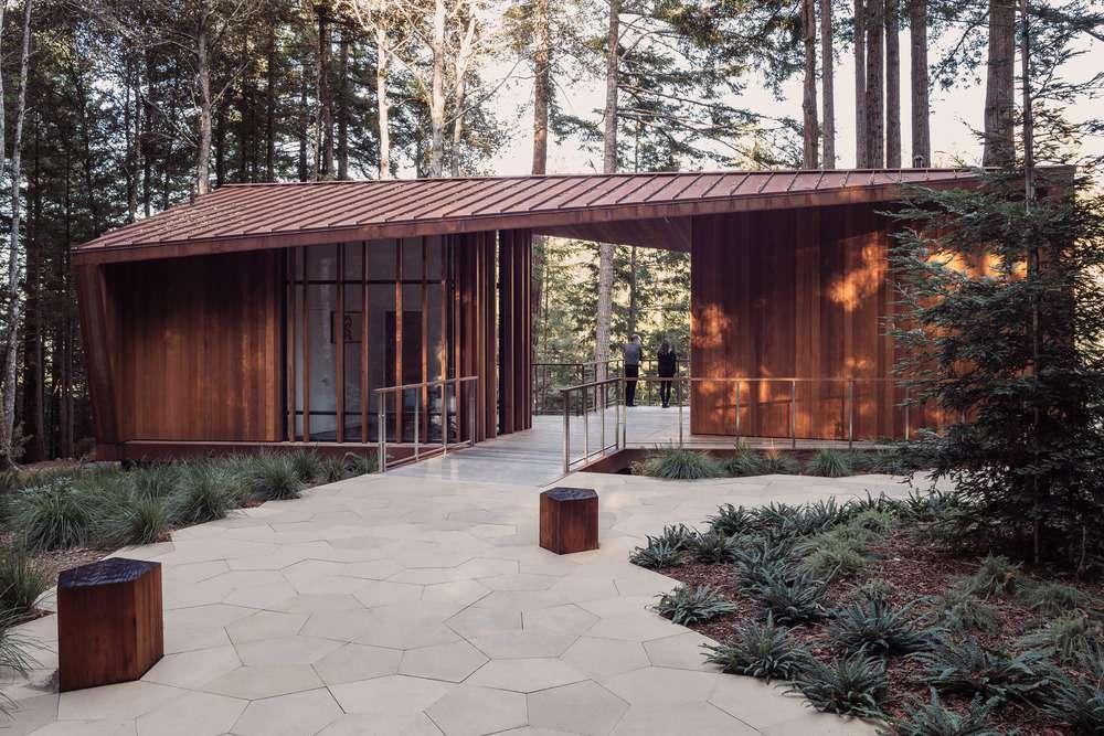 Deck visible through trees