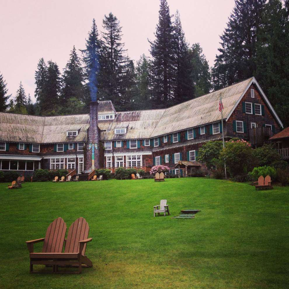 side view of Quinault Rain Forest lodge