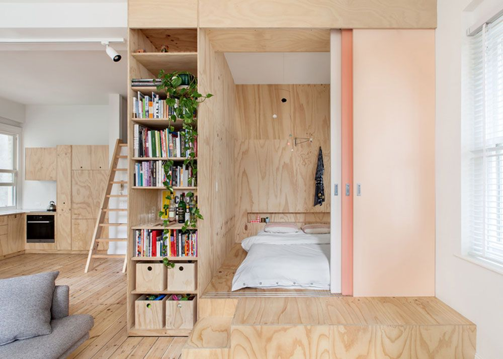 Loft Renovation for Young Family Is Inspired by Japanese Micro-Apartments
