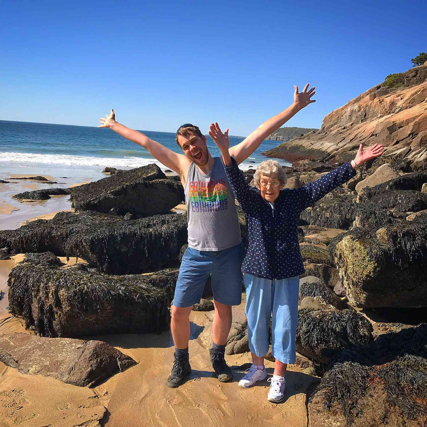 Grandma Joy at Acadia