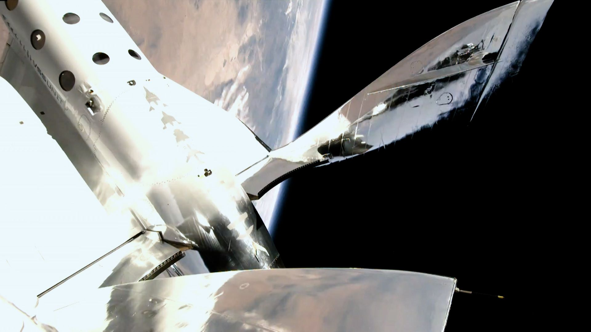 view of ship in space