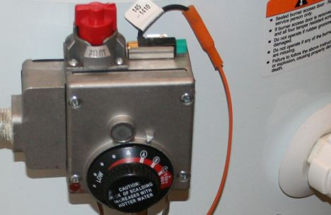 water heater gas valve image