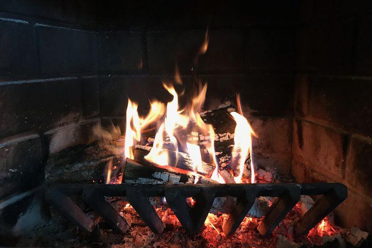 Wood fire at Shoe Lake