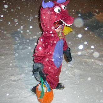 trick-or-treater in Churchill, Manitoba