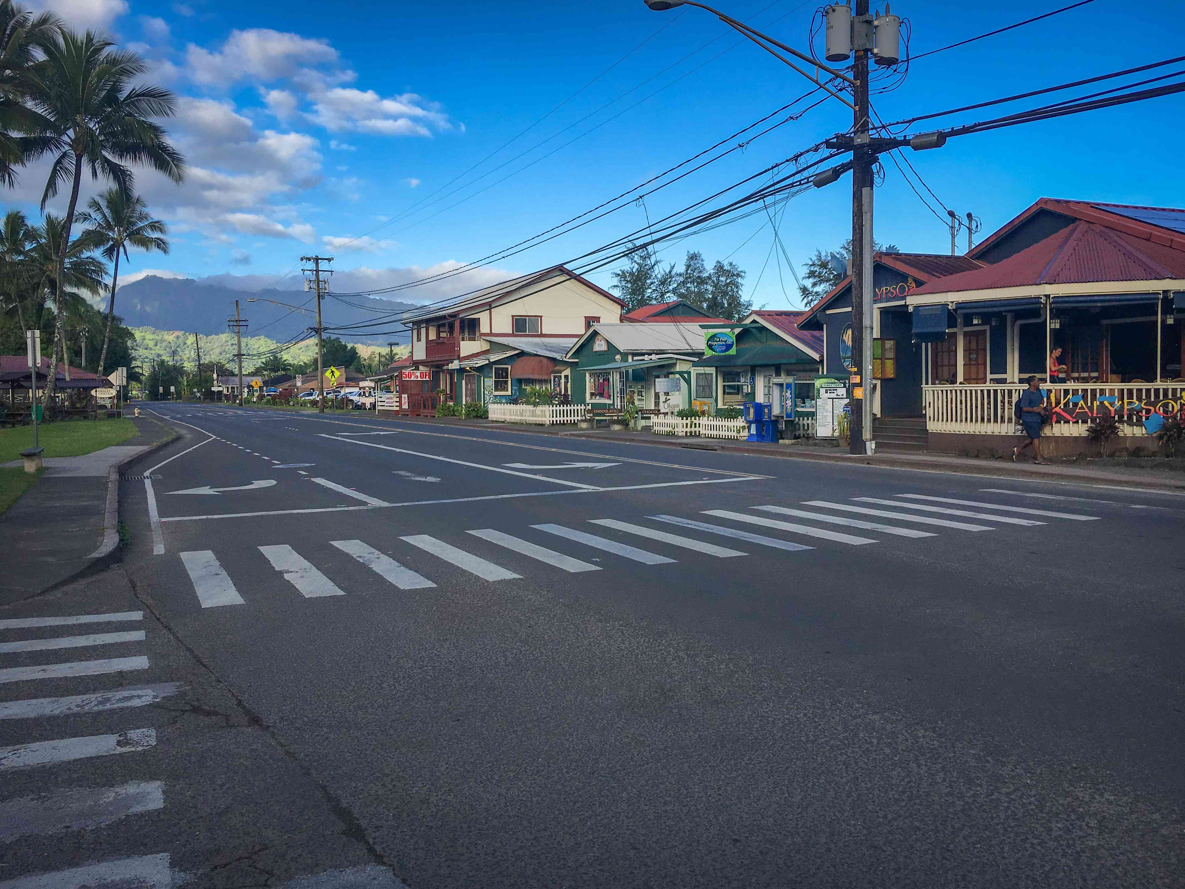 Kuhio Highway in Hanalei, Kauai, Hawaii