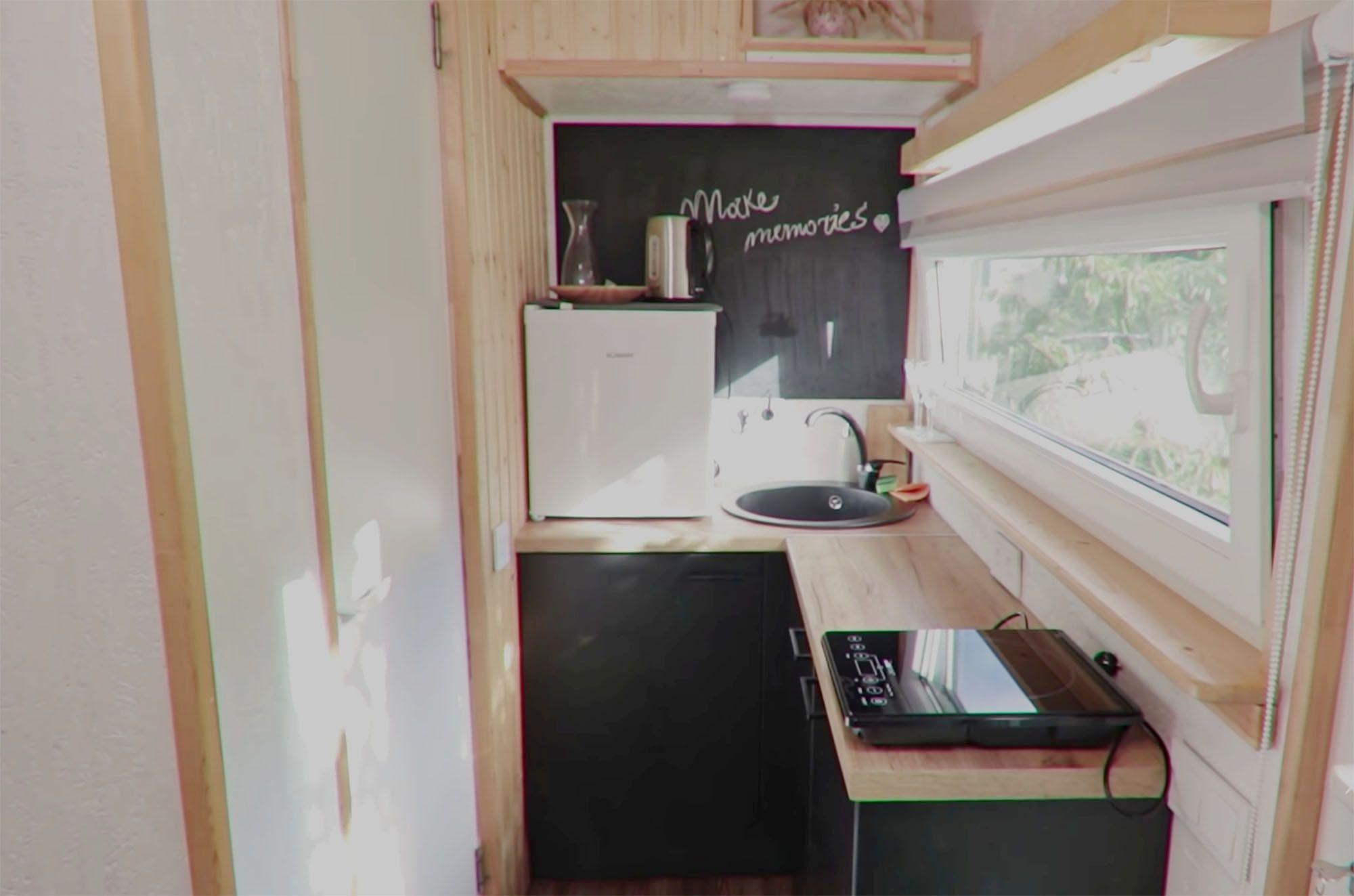 tiny village latvia kitchen