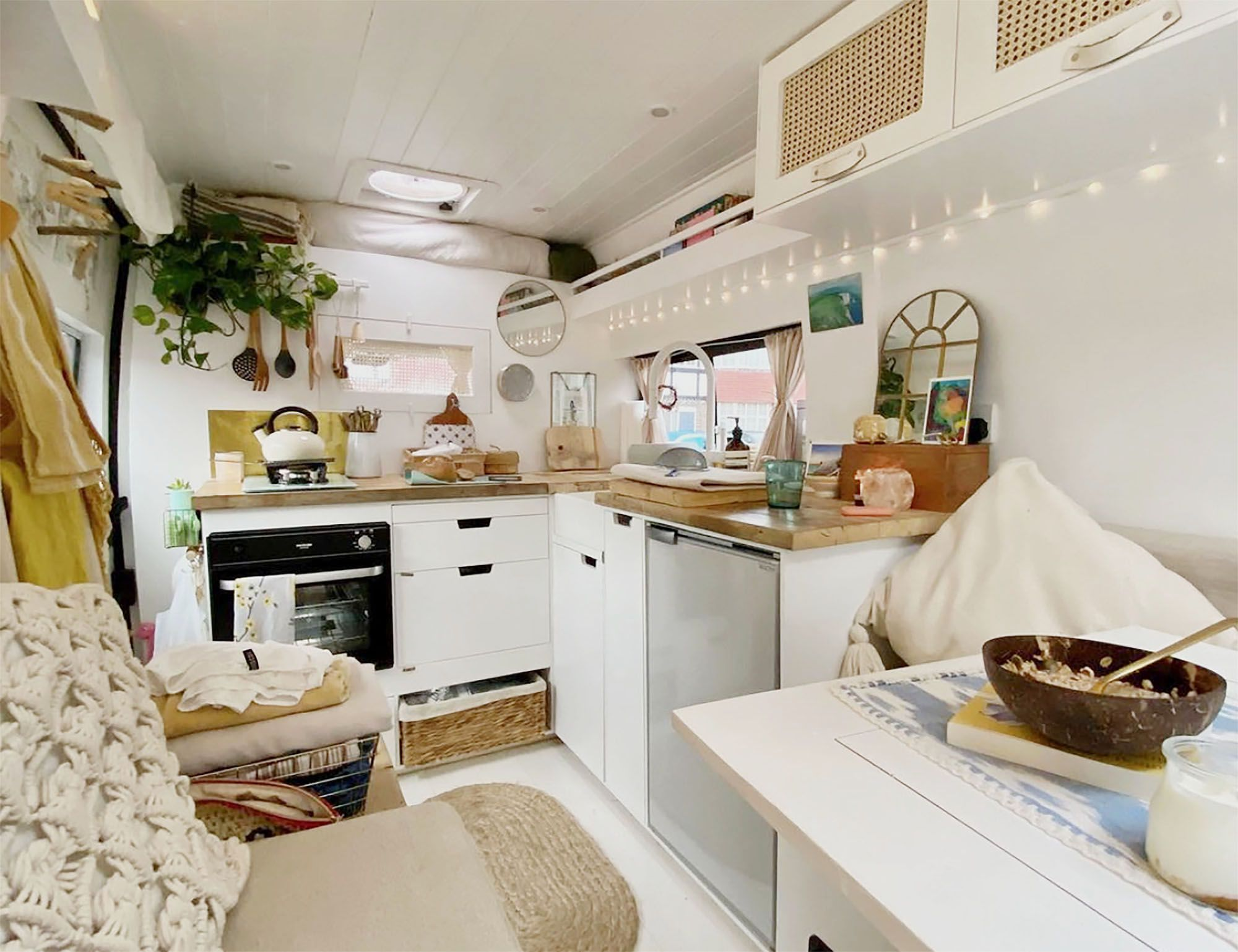Woman's Charming Van Conversion Includes an Important Safety Feature
