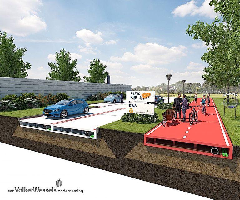 Rotterdam puede pavimentar sus caminos con plástico reciclado