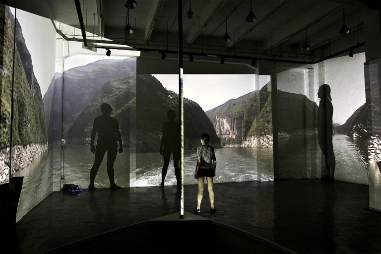 The Three Gorges, 3rd Edition video installation by Sonja Hinrichsen
