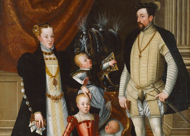 Giuseppe Arcimboldo's painting of the Holy Roman Emperor Maximilian II of Austria and his family