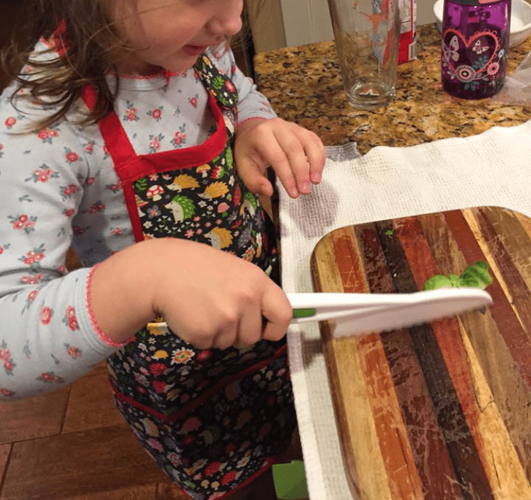 kid chopping