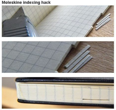 moleskine indexed photo
