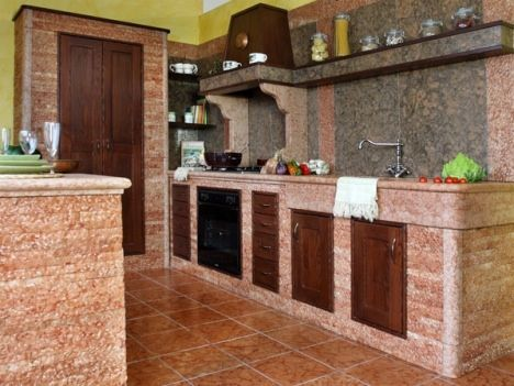 solid granite kitchen photo