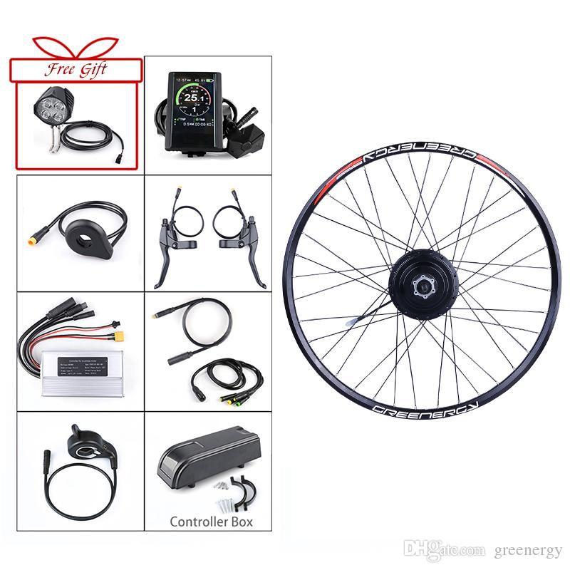 BAFANG E-bike Front Hub Motor 48V 500W Bafang Brushless Gear 20/26/27.5/700C inch Electric Bicycle Conversion Kits