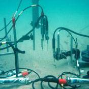 Underwater carbon storage